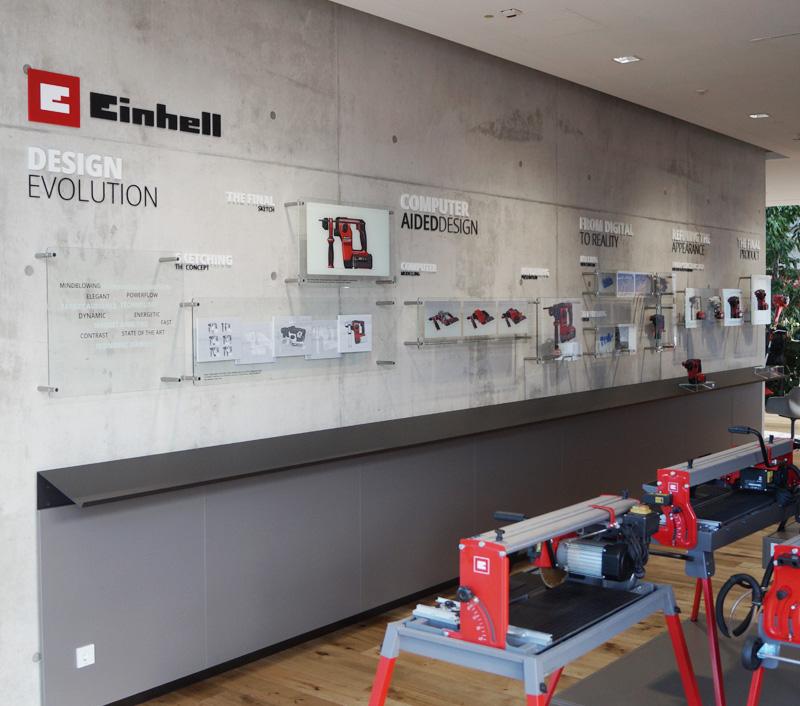 Einhell - Einhell-Welt - Designprozess-Wand
